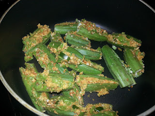 Stuffed Bhindi  with Paneer / stuffed Okra with cottatge cheese