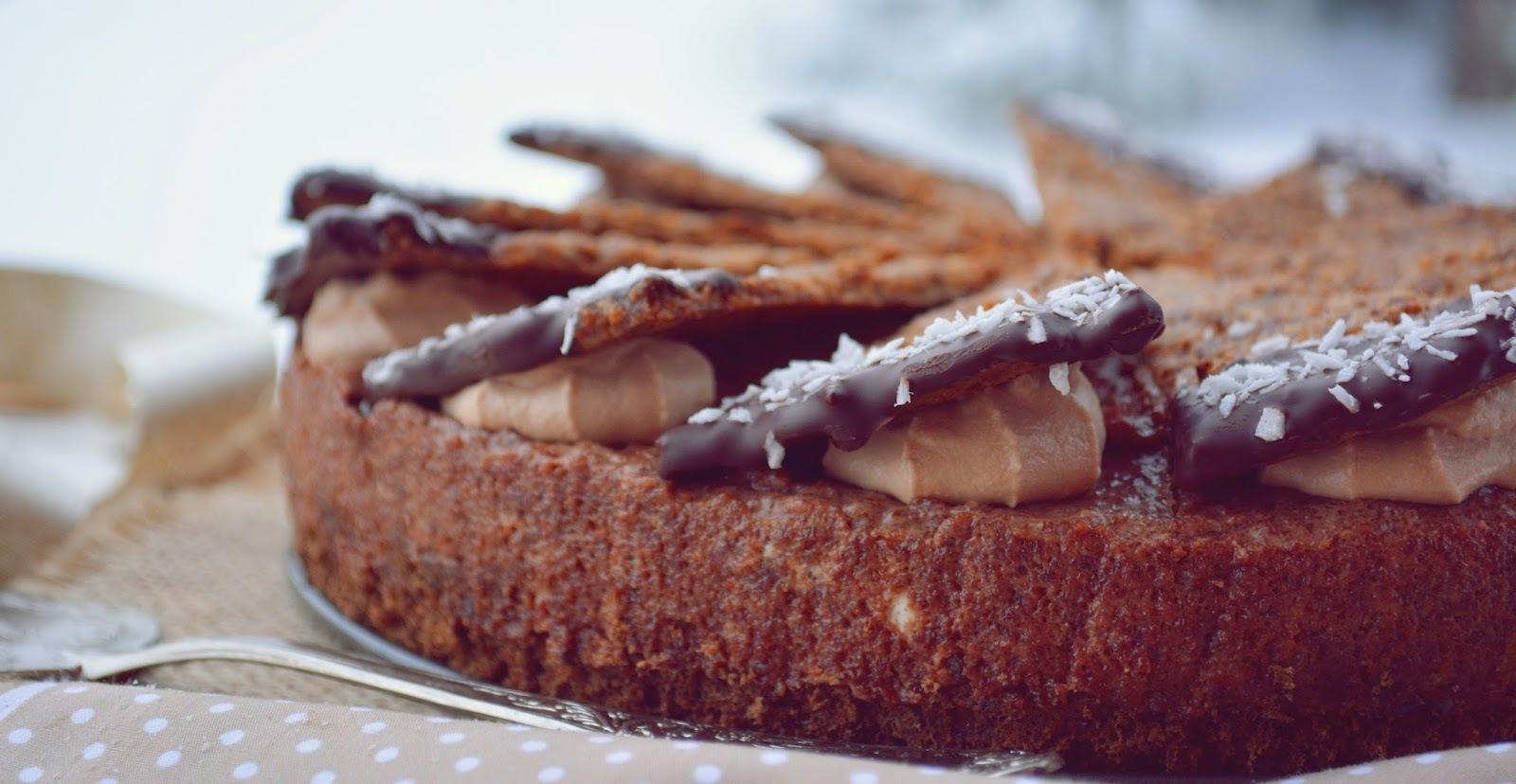Nutella mousse torta mogyorós florentine lapokkal - paleo