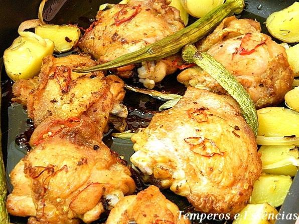 como fazer coxa e sobrecoxa de frango com batata cozido