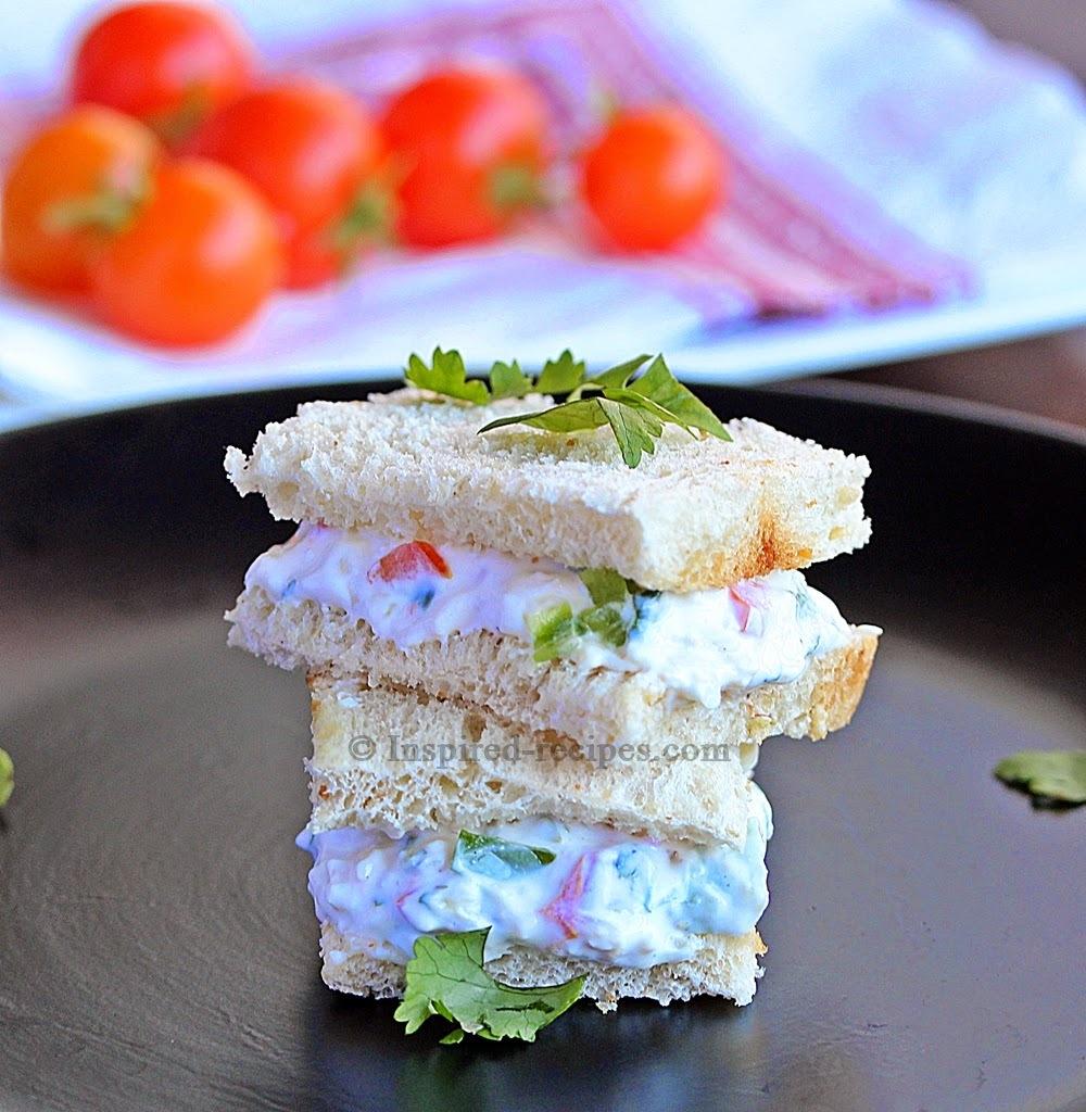 Greek Yogurt and Vegetable Sandwich