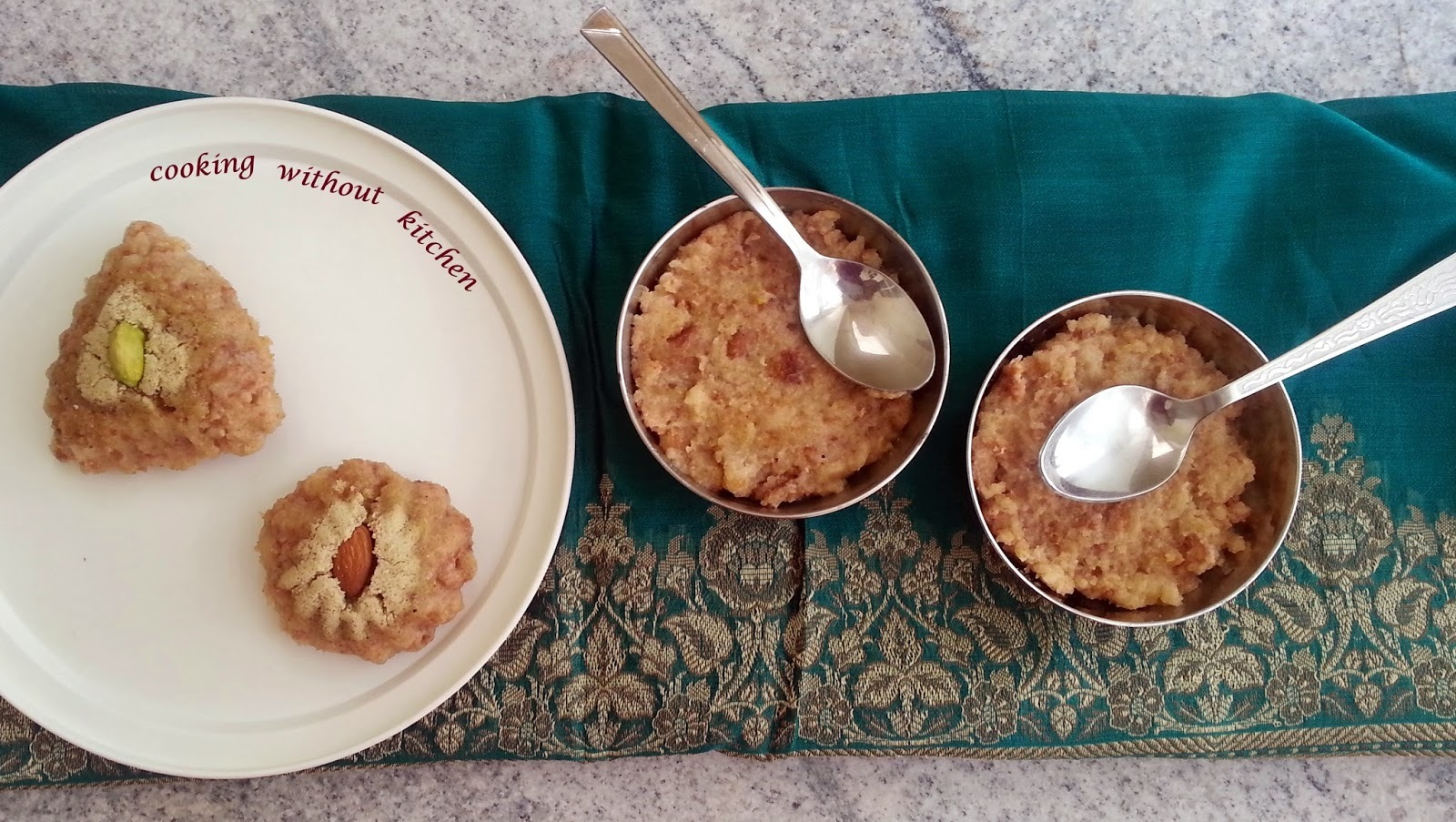 Instant bread halwa- amazing Indian dessert using bread