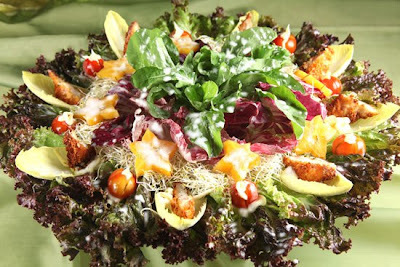 Salada Colorida com Frango Empanado ao Catupiry® Light