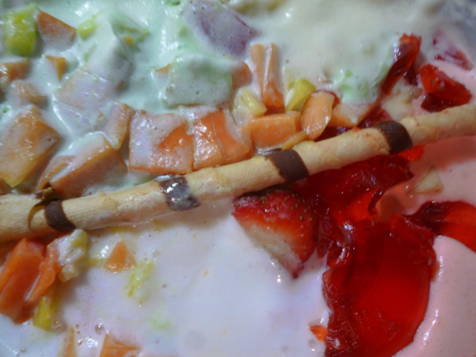 Frutas con helados