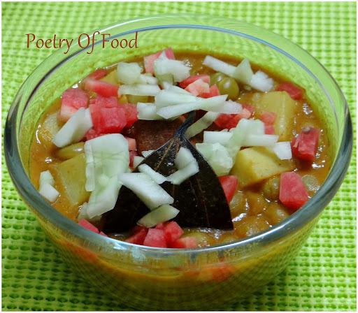 Niramish Ghugni....Veg Peas Curry...No onion...No Garlic...!!!
