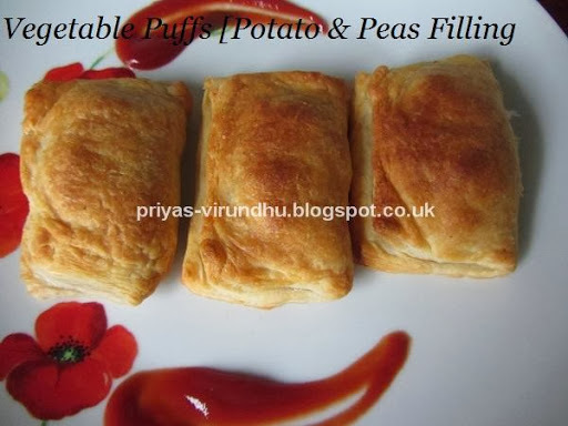 Vegetable Puffs with Potato Filling