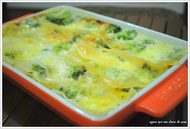 metamorfose culinária: lasanha de brócolis