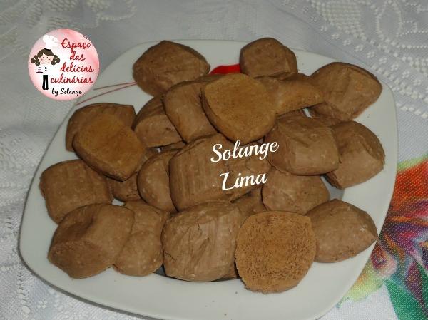 Biscoito de nata de chocolate