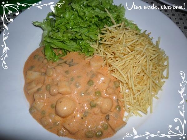 Receita do Dia: Estrogonofe Vegetariano (lacto)