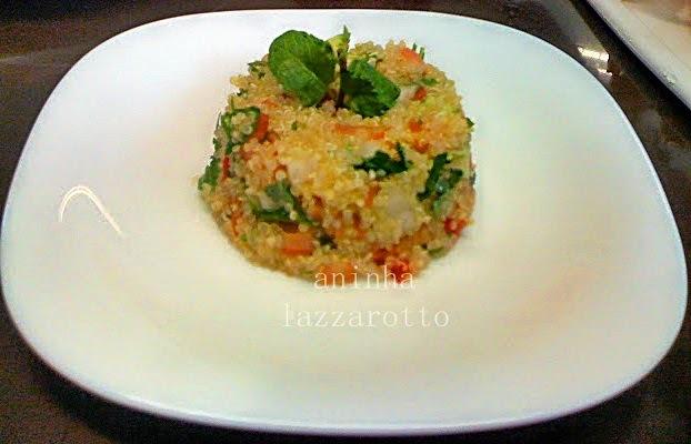 Tabule de Quinoa! Uma delícia muito nutritiva!!!