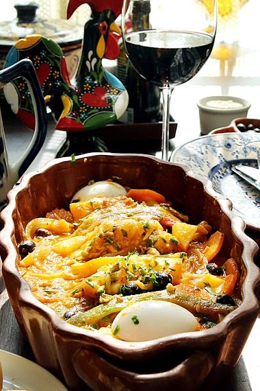 Bacalhau com Grão-de-Bico, Batatas e Cenoura