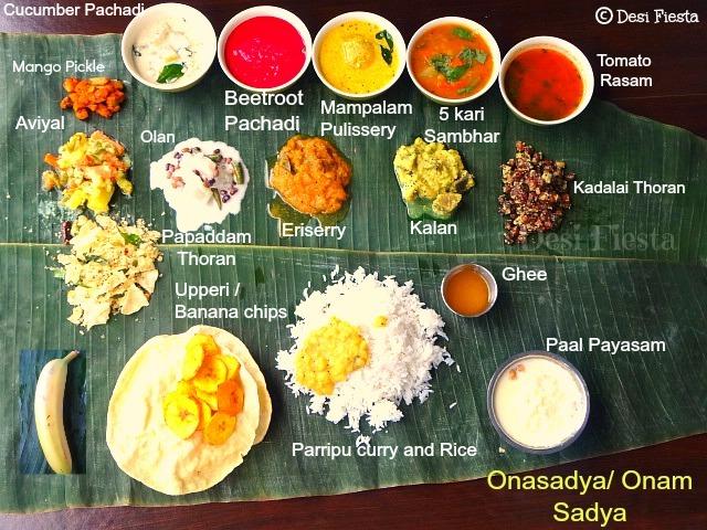 Ona sadya / Onam sadya / Kerala Onam Banquet