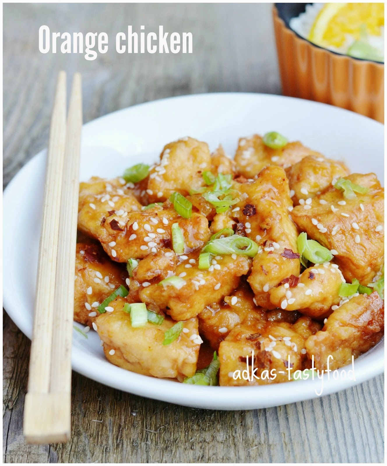 Kuracie kúsky v pomarančovej omáčke - Orange chicken
