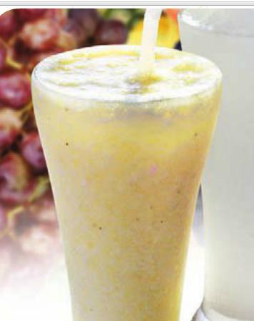 Suco de uva com biomassa de banana verde