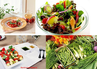 salada verduras cozidas berinjela