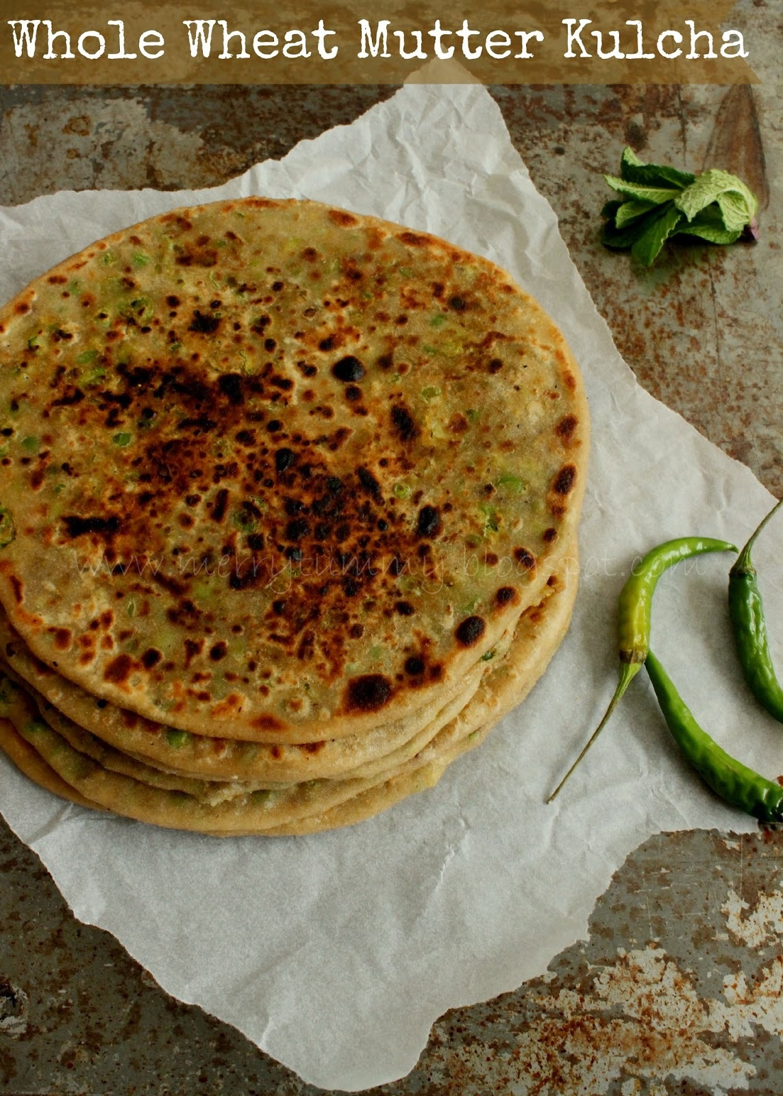 Whole Wheat Mutter Kulcha