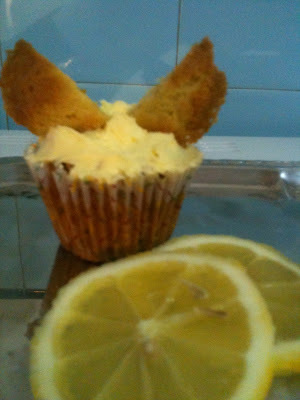 Mariposas de limón - Lemon butterfly cakes