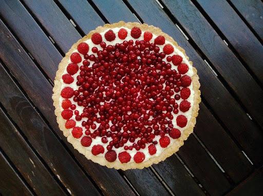 Kokosový koláč s krémem z bílé čokolády a mascarpone