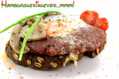 Receta de Hamburguesas Caseras con Corazón de Huevo | Recetas Originales