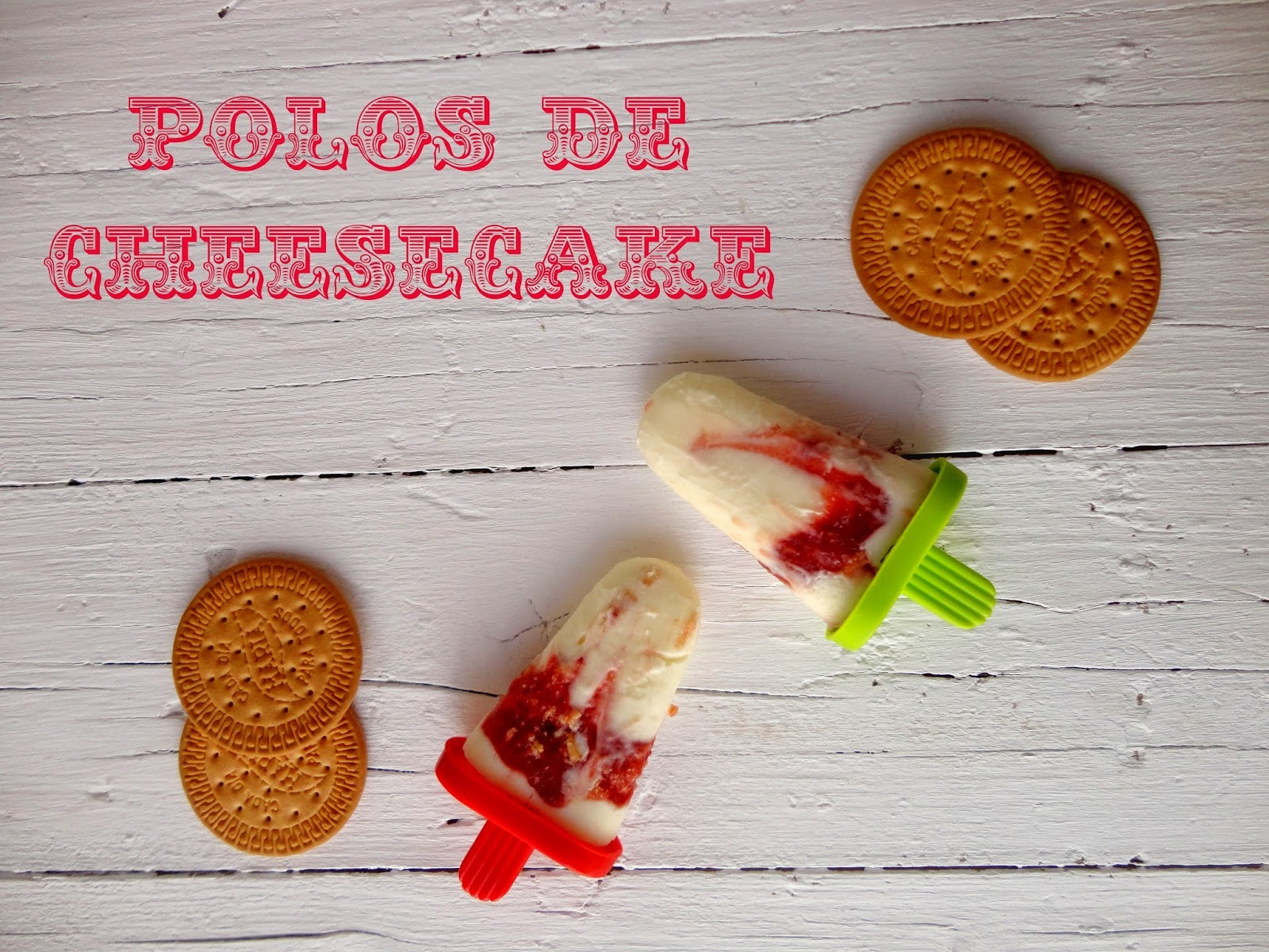 Polos de Cheesecake (Cheesecake popsicles)