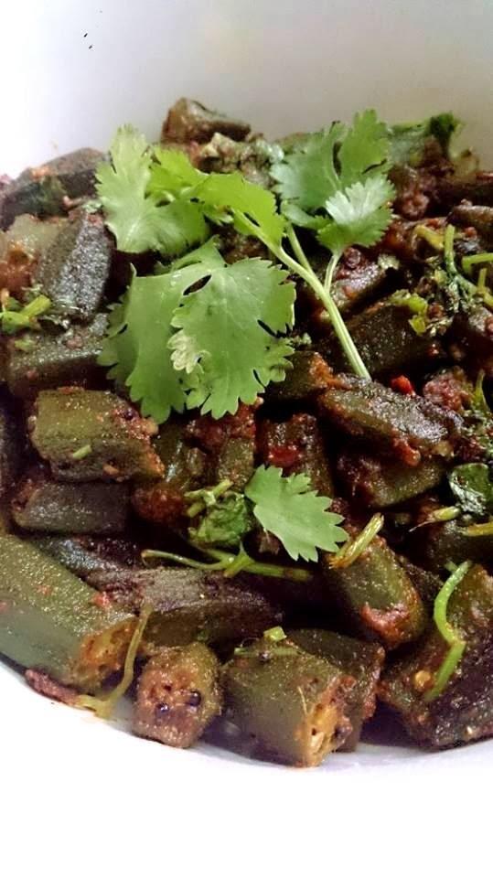 Easy Coriander cumin Okra recipe/Bhindi/Vendakai