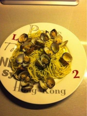 Spaghetti aux palourdes et au pesto