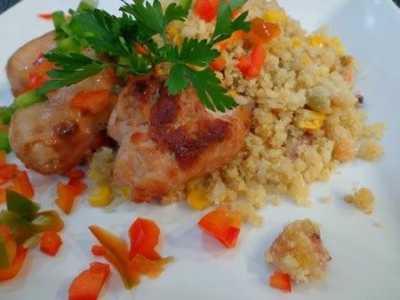 arroz com salsichao