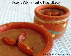 Ragi Chocolate Pudding/Ragi Cocoa Malt/Finger Millet Chocolate Pudding