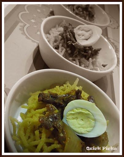 Corn meal Idiyappam with Egg Roast & Kuruma