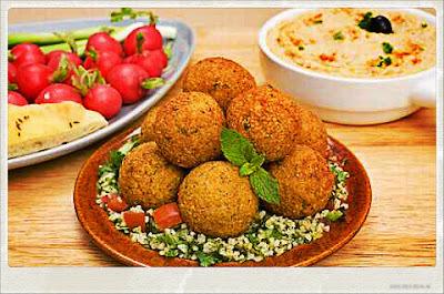 Comida Árabe: Falafel, com grão-de-bico