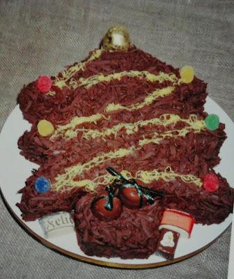 Bolo Árvore de Natal de Chocolate