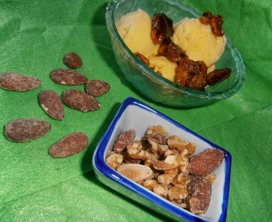 Nueces fritas y mix de semillas azucarado