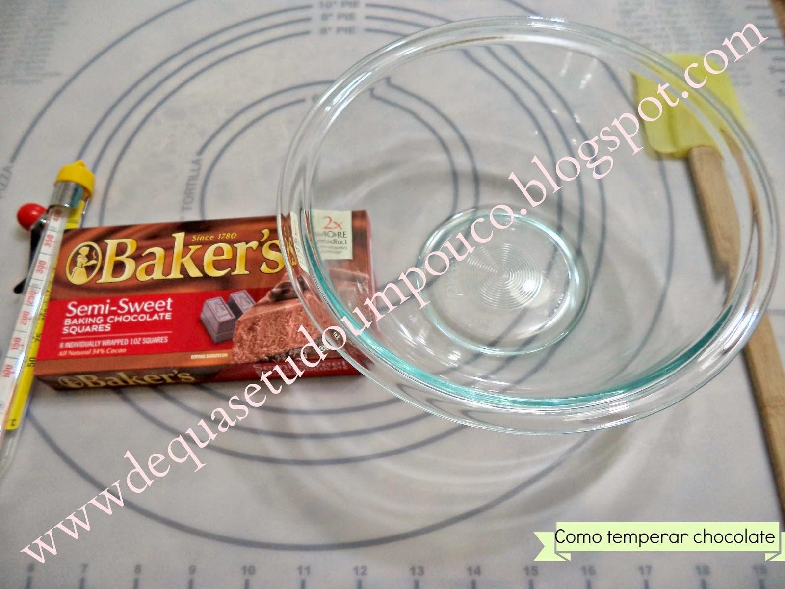 Como temperar chocolate