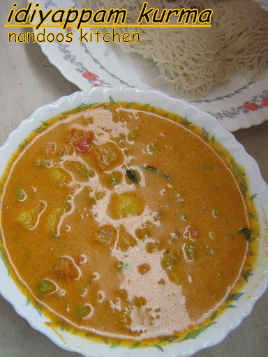Vegetable kurma for idiyappam / kurma