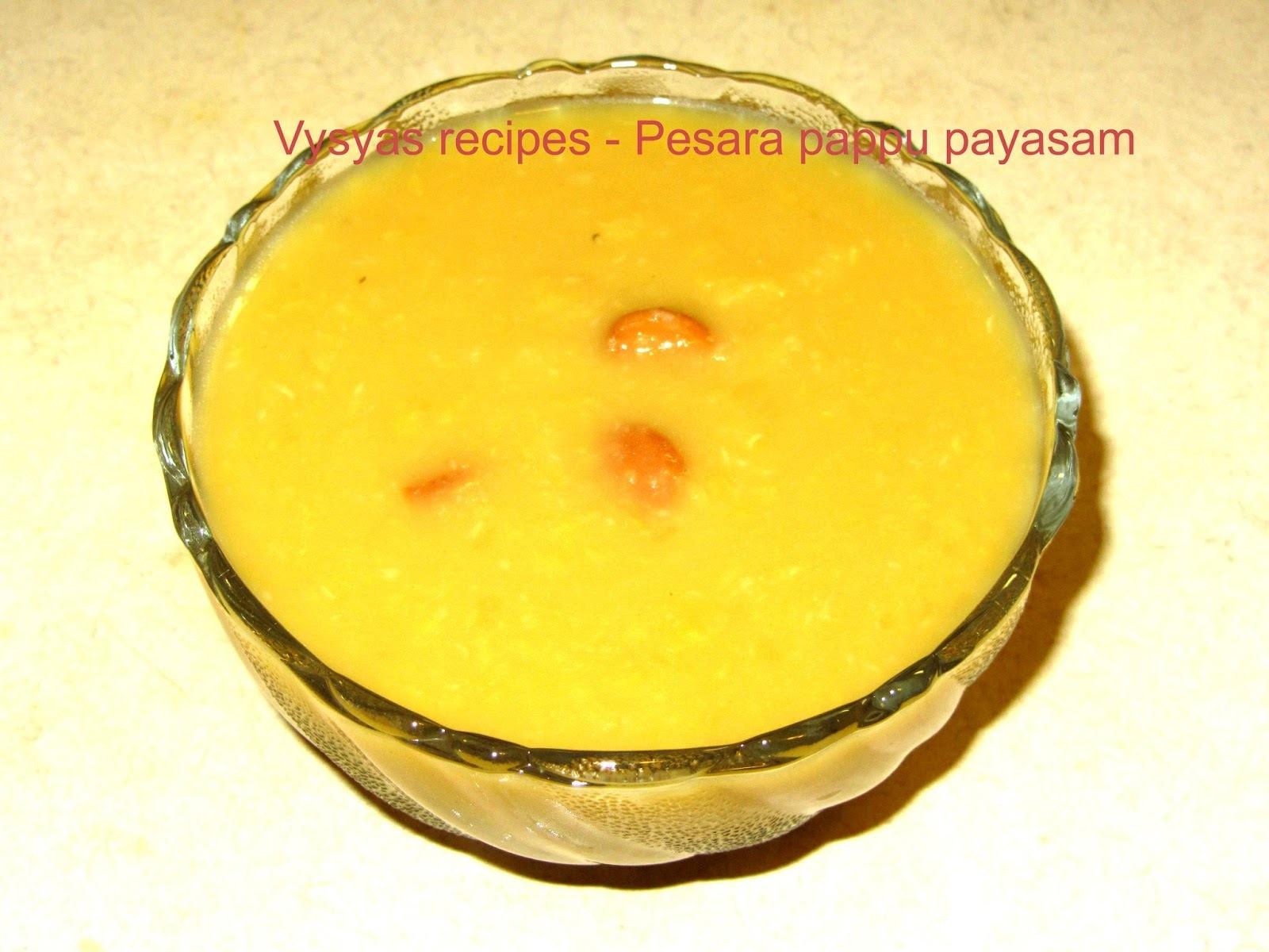 Pesarapappu payasam - With Step by Step Pictures - Pasi paruppu payasam - Moong Dal Kheer