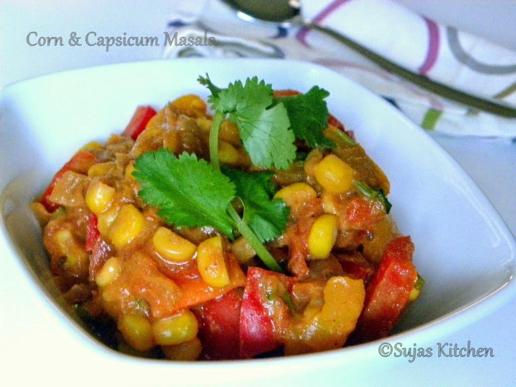 Corn & Capsicum Masala/Shimla Mirch aur Makai ki sabji