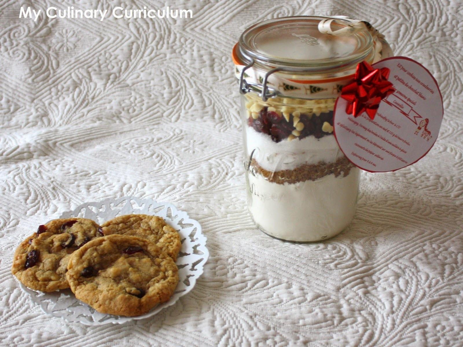Kit cookies cranberries et pépites de chocolat blanc (cadeau gourmand)  Kit cookies cranberries and white chocolate chips (gourmet gift)