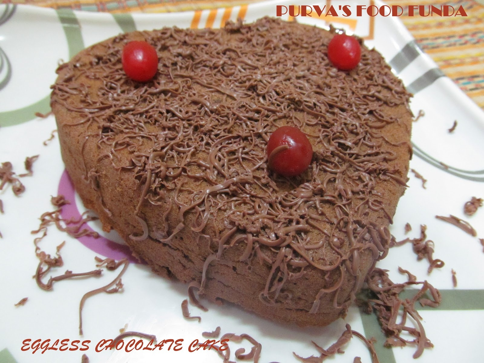Easy Eggless Chocolate Sponge Cake