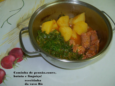 """""""Linguicinha de pensão, com couve e batatas"""" da Vovó Rô!"""