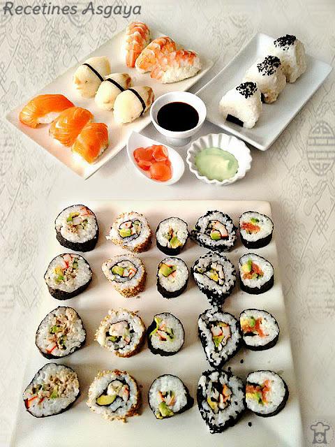 """""""Sushi Time"""": Onigiris, Nigiris, Makis Variados y Jengibre Encurtido"""