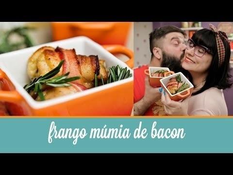 Frango múmia de bacon