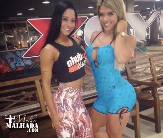 Treino de Quadríceps das Atletas Roberta Zuñiga e Aline Machado