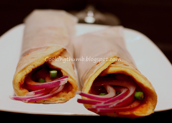 Authentic Kolkata Egg Roll