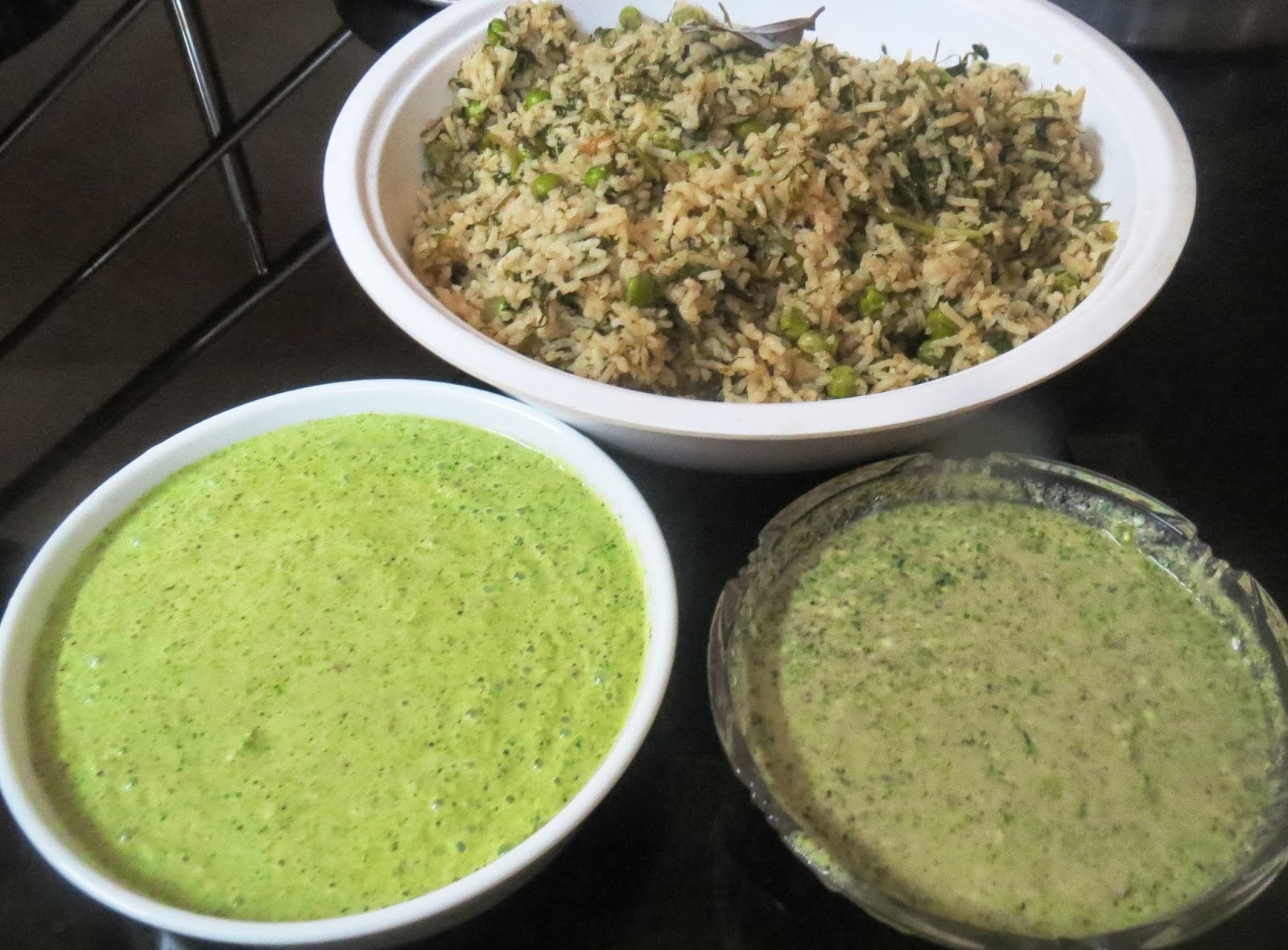Spinach  - Peas Palav