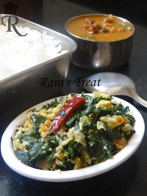 Murungai Keerai Poriyal / Moringa / Horseradish / Drumstick Tree Leaves Stir Fry