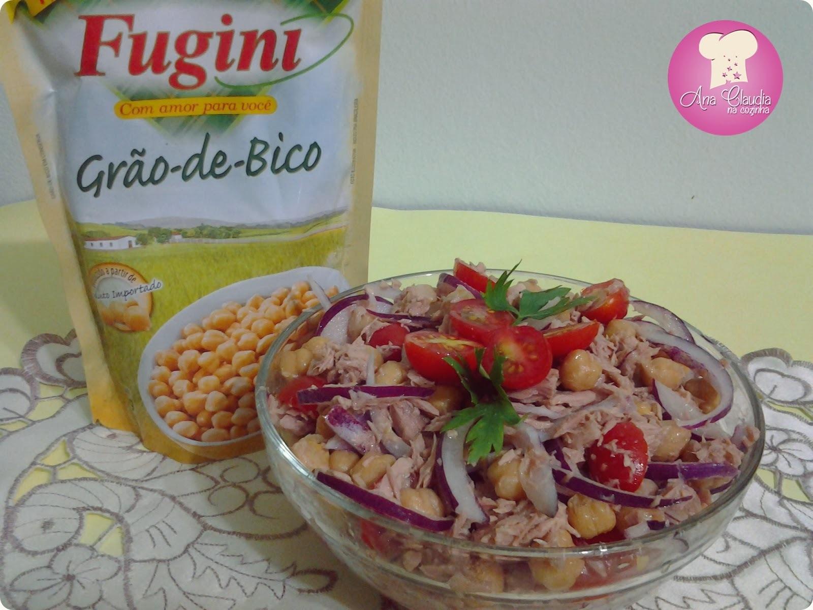 Salada de Grão de Bico Fugini e Atum - Nova Parceria