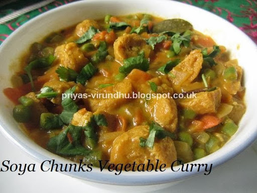 Soya Chunks Vegetable Curry
