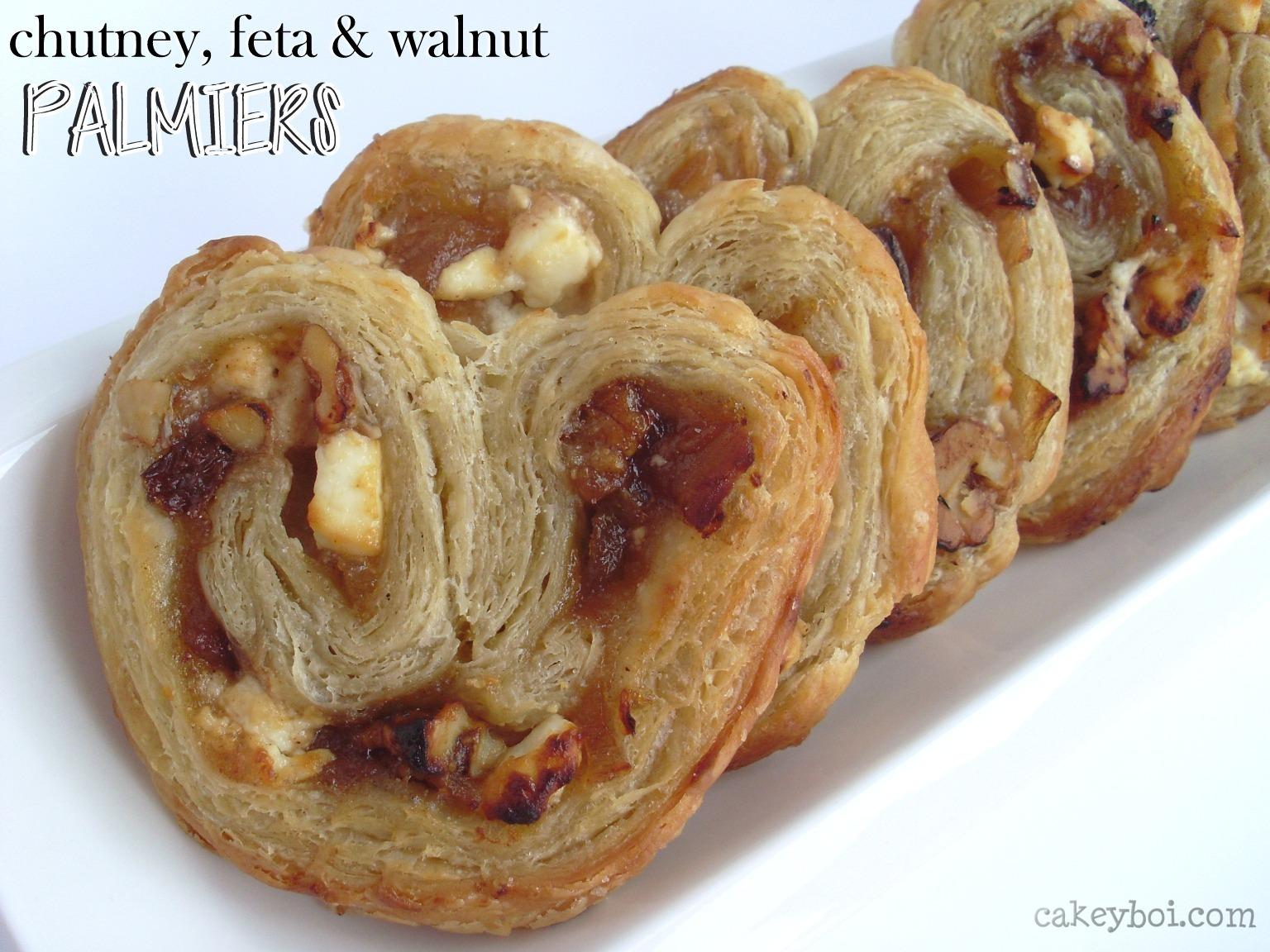 Chutney, Feta and Walnut Palmiers - for Organic September