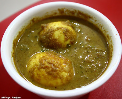 egg curry green gravy