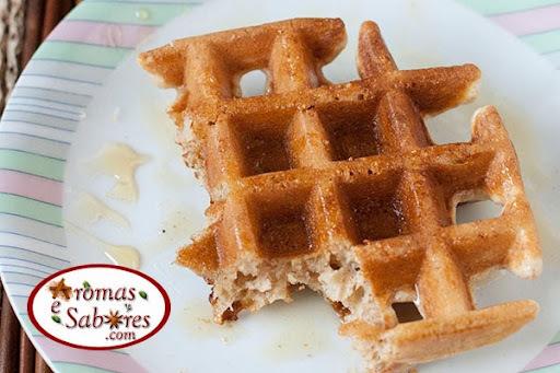 Receita de massa de waffles integral