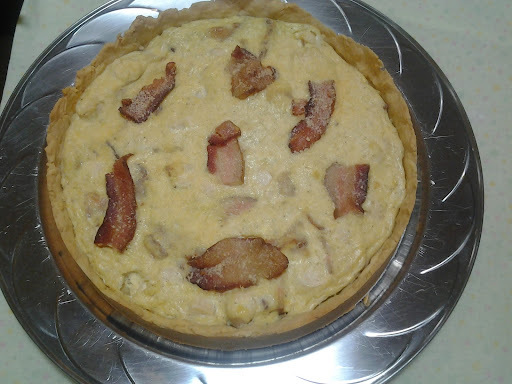 Quiche de  Palmito e Bacon